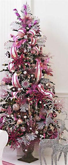 hot pink, silver, & magenta tree
