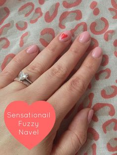 Keeping up with the Joneses: Nails of the Week- Sensationail Fuzzy Navel