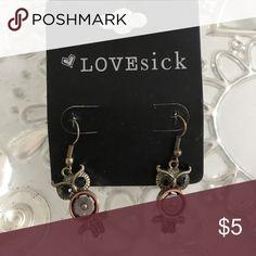 Owl earrings Owl earring love sick Jewelry Earrings