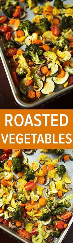 One of my favorite ways to eat and make vegetables. Roasted vegetables bring out sweet flavor notes of veggies and they're infused with the olive oil you drizzle it with.