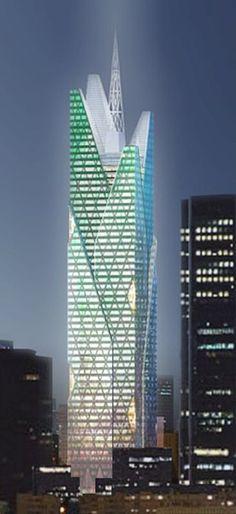 Tour Generali - The Skyscraper Center #futuristicarchitecture
