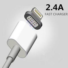2.4 magnetic micro usb data cable untuk apple iphone 7 6 5 5 s 6 s ditambah pengisian kabel android untuk samsung ponsel charger kabel