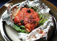 Make-ahead salmon with green beans, tomatoes, and olives ~ Stuff I Make My Husband