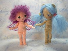 free crochet fairy doll pattern | new pattern to celebrate one year (and counting) for this blog! It ...
