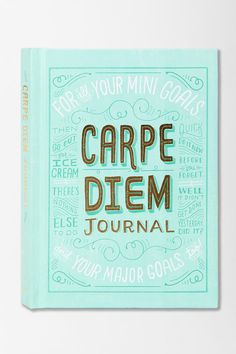 Carpe Diem Journal from Urban Outfitters to record and track my goals!