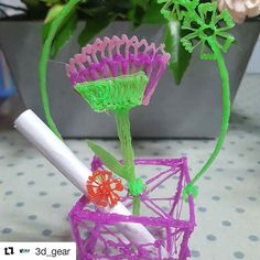 Very cute plant by 3d pen.  #Repost @3d_gear (@get_repost)  #3d #3DPrint #3Dprinting #3Dmodel #3Dprinter #3dscan #3dmodeling #3dpen #Design #ProductDesign #CAD #Maker #ModernManufacturing #Shapeways #Ultimaker #PrintrBot #FDM #PLA #insiderdesign #design #makerbot #filament #plastic #industrialdesign #print #architecture #architect #architecturestudent #archilover