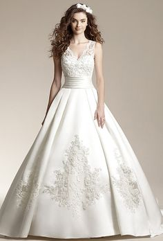 Jasmine Wedding Dresses with lace overlay | drinks wedding registry wedding decor flowers live wedding destination ...