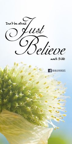 Just Believe - love that font