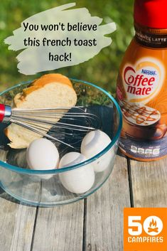 Why mess with all the spices when you can add one thing that has the PERFECT FLAVOR for french toast? This french toast hack not only makes it easier to make french toast at the campsite, but it's more delicious too! Best Camping Meals, Camping Desserts, Camping Recipes, Make French Toast, Foil Packets, Campsite, Spices, Brunch, Cooking