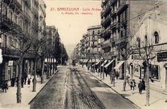 Calle Aribau de Barcelona, aprox. 1910
