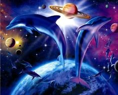 Fantasy Gifs images and Graphics. Fantasy Pictures and Photos. Dolphin Photos, Dolphin Art, Drawing Sketches, Drawings, Fantasy Pictures, Celestial, Fantasy World, Cute Baby Animals, Dolphins