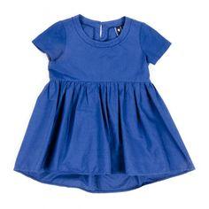 Da 2 anni a 12 anni abito manica corta in cotone colore blu femmina capo fresco e confortevole adatto anche per ceriminia P/E 2016