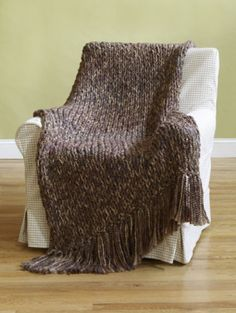 6-Hour Afghan  WOW!!  Size 50 knitting needles needed!!! 8-O