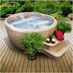 Next purchase for us! Lifesmart Rock Solid Luna Spa Portable hot tub - 110V plug n play spa
