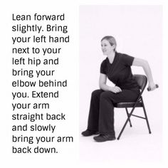 Over the years I have taught fitness classes at senior centers and residential care facilities for the elderly. These exercises integrate safe and effective methods to increase strength and improve range of motion.