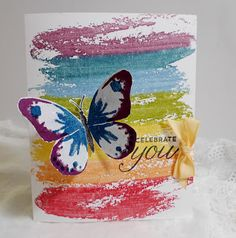 Stampin' Up! Watercolor Wash and Watercolor Wings handmade card