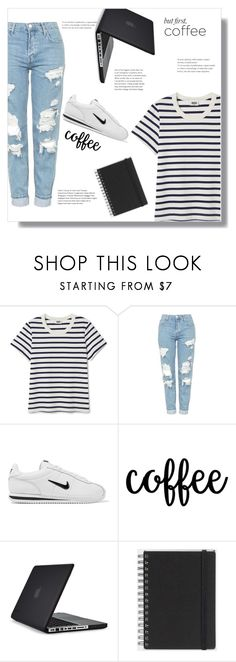 """""""Untitled #206"""" by arwitaa ❤ liked on Polyvore featuring Topshop, NIKE, Speck and Muji"""
