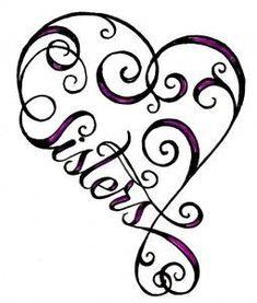Love the heart - and the sisters tattoo @Chelsea Rose Thomas @Breanna Newbill Railyn @Lisa Phillips-Barton Busy Body
