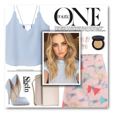 """""""Sheinside"""" by gogadirectioner ❤ liked on Polyvore featuring MANGO, Givenchy, Steve Madden and Bobbi Brown Cosmetics"""