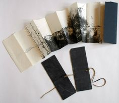 Reliure d'art. I love the outside cover and the way the pages are accordion.
