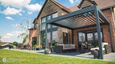 Garden Pods, Terrace Garden, Outdoor Living Areas, Outdoor Rooms, Modern Gazebo, Modern Pergola Designs, Aluminum Pergola, Outdoor Pergola, Pergola Ideas
