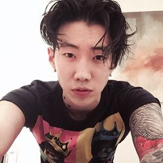 """Goodnight! #aomg #followthemovement"" ... JayPark ... So you just go to sleep like that?"