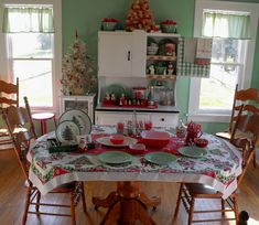 Another view of Oodles and Oodles Christmas table. Wish she'd invite me!