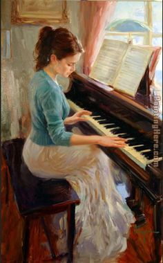 Vladimir Volegov Familiar Melody painting for sale - Vladimir Volegov Familiar Melody is handmade art reproduction; You can buy Vladimir Volegov Familiar Melody painting on canvas or frame. Vladimir Volegov, Illustration Art, Illustrations, Playing Piano, Beautiful Paintings, Art Music, Music Artists, Love Art, Oeuvre D'art