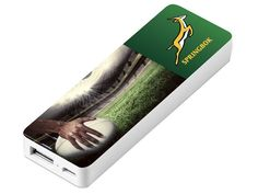 Springbok Nano 2500Mah Power Bank - Springbok Branded Gear - IgnitionMarketing.co.za Rugby Gear, Branded Mugs, Womens Golf Shirts, Good To Great, Office Essentials, Marketing Professional, African Culture, Selfie Stick
