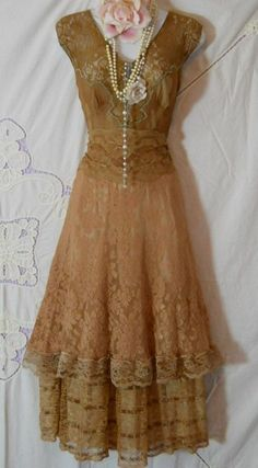 Vintage dress with incredible details . . .