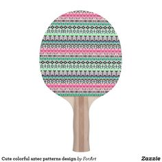 Shop Cute colorful aztec patterns design ping pong paddle created by ForArt. Aztec Patterns, Ping Pong Paddles, Pattern Design, Colorful, Prints
