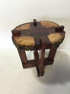 Log Slab Side Table or Coffee Table / by WolfcreekFurnitureCo