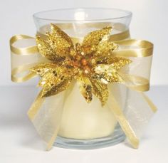 Bowdabra Holiday Decor: Christmas Candle Holder