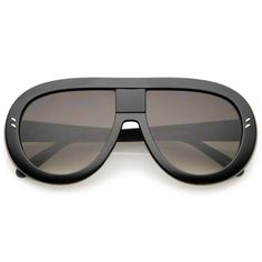 Chunky aviator sunglasses featuring an oversize frame with metal rivet accents at the front. Complete with teardrop shaped flat lenses. Top Sunglasses, Casual Shirts, Eyewear, Lenses, Aviation, Pants For Women, Flats, Shapes, Music Festivals