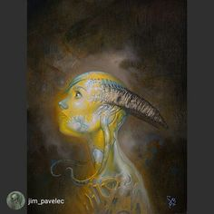 """Another great work from our February featured artist  @jim_pavelec check out his feature on goodartguide.com """"With Fear I Kiss the Burning Darkness."""" 11"""" x14"""" oil on re-purposed board. www.jimpavelec.com  #atthegates #painting #gothicbeauty #art #illustration #drawing #draw  #picture #artist #sketch #sketchbook #paper #pen #pencil #artsy #instaart #beautiful #instagood #gallery #masterpiece #creative #photooftheday #instaartist #graphic #graphics #artoftheday"""