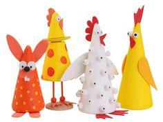 I denne materialepakke har vi samlet alt, du skal bruge med Spring Crafts For Kids, Animal Crafts, Art Activities, Happy Easter, Diy And Crafts, Wedding Decorations, Tobias, Preschool, Education