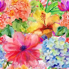 abstract hibiscus painting - Google Search