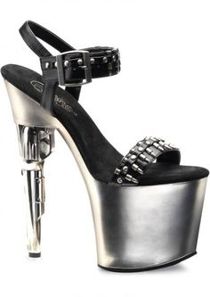 Bond Girl Stiletto Black/Silver. Find it here! http://www.yourtoychest.com/product/237423/CNVXGN-P-BOND712BPUPW-6/Bond+Girl+712+Stiletto+Black%252FSilver+Size+6  Follow us! https://www.pinterest.com/yourtoychest/