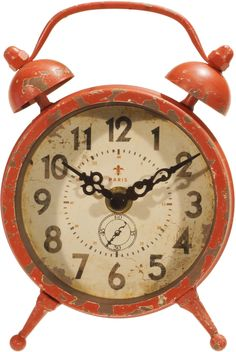 Stephan Table Clock in Red