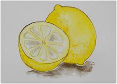 Lemon Art by dleair on Etsy
