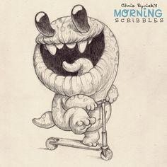 Scootin'… #morningscribbles