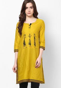 Yellow Solids Kurta - KIRA Kurtas & kurtis for women | buy women kurtas and kurtis online in indium