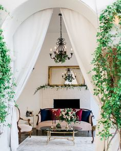Escape away to our beautifully designed vintage lounge. (Venue: @villaandvineweddings Design Coordination Floral Artistry: @burlapandbordeaux Photography: @stevenleyvaphoto Vintage Furniture Rentals & Styling: @mylovelyevents @remii3 Tabletop & Chair Rentals: @venturarental Linens: @dreamsamerica Model: #RemingtonCarillo Bridal Top: Private Collection Bridal Skirt: #ChristianneTaylor Jewelry: @c2ccollectionsb Hair & Makeup: @larougeartistry Hand Lettering: @the_lazy_creative)