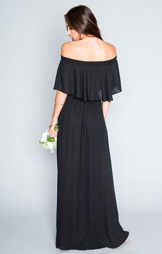 Hacienda Maxi Dress - Black Crisp   Show Me Your MuMu