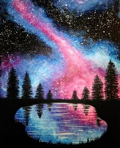 Join us for a Paint Nite event Wed Mar 2018 at 319 S. Main Street Bel Air, M. Join us for a Paint Nite event Wed Mar 2018 at 319 S. Purchase your tickets online to reser. Galaxy Drawings, Art Drawings, Watercolor Galaxy, Watercolor Art, Memes Arte, Beautiful Nature Wallpaper, Night Sky Painting, Galaxy Art, Pastel Art