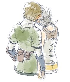 Link and Ilia - don't ship them, but it's a cute ship! = w =