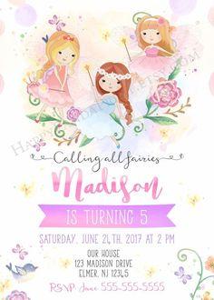 Fairy Invitation Fairy Birthday Invitation Fairies Birthday | Etsy