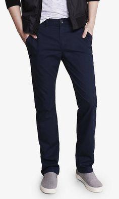Slim Dark Blue Finn Chino Pant   Express