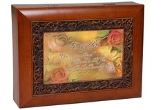Cottage Garden Inspirational Music Box - Daughter Plays Amazing Grace With Ornate Woodgrain Finish by Cottage Garden. $29.99. Makes A Perfect Gift Or Family Keepsake.. Plays Amazing Grace. Easily Personalize With Your Own Photos And Messages. Beautiful Ornate Woodgrain Finish. This beautifully trimmed Italian Styled Music Box / Jewelry Box makes the perfect gift. The Sankyo brand musical movement is enclosed in glass for an added touch of luxury. Use the photo opening t...