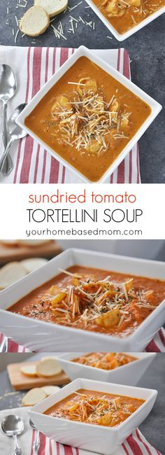 Hypoallergenic Pet Dog Food Items Diet Program Sundried Tomato Tortellini Soup Recipe - Full Of Amazing Flavor Chowder Recipes, Soup Recipes, Cooking Recipes, Chili Recipes, Pasta Recipes, Healthy Recipes, Potato Recipes, Brunch Recipes, Casserole Recipes